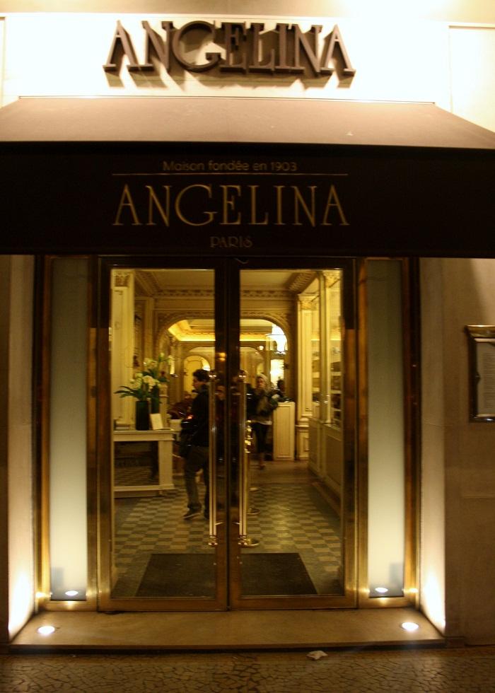 Angelina Tea Room Menu